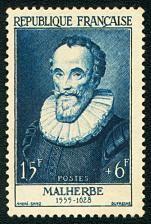 François de Malherbe 1555-1628 - Timbre de 1955