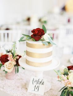 Cake centerpieces: http://www.stylemepretty.com/little-black-book-blog/2016/06/02/cakes-as-centerpieces-for-florida-spring-wedding/ | Photography: Jacqui Cole Photography - http://jacquicole.com/