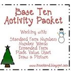 This Base Ten Activity Packet provides a variety of ways to practice standard form numbers, number words, expanded form, place value, and drawing n...