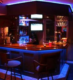 Game Room In My Basement. This Is The COOL Bar!