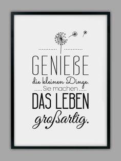 """Originaldruck - """"GENIEßE DAS LEBEN"""" Kunstdruck - ein Designerstück von Smart-Art-Kunstdrucke bei DaWanda"""