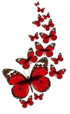 mariposas rojas png - Buscar con Google
