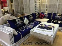 Decor, Furniture Design, Moroccan Living Room, Bed Furniture Design, Bed Pillows, Furniture, House, Home Decor, Room
