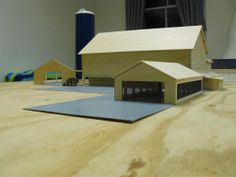1 64 Scale Toy Barns Wooden Toy Barn, Go Kart Frame, Farm Village, Lumber Mill, Farm Layout, Toy Display, Farm Toys, Model Train Layouts, Barn Plans