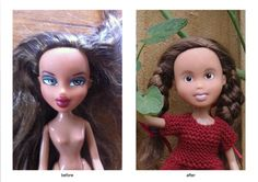 Tree Change Dolls - repainted Bratz dressing and playing like actual little girls!