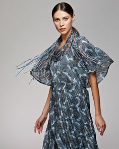 Silk necklace шелковые колье Silk Scarves, Russia, Wrap Dress, Dresses, Fashion, Vestidos, Moda, Fashion Styles, Dress