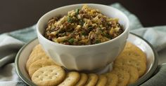 5-Ingredient Neiman Marcus Dip//looks like better cheddar to me, except walnuts should be used instead of almonds...