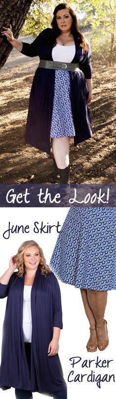 The plus size vintage inspired June Skirt from our Curvy Kitten Collection is so versatile that we have created three looks with it being the start of the outfit! Whether you are feeling prim and proper, classic and elegant or edgy chic, theres a look for you!