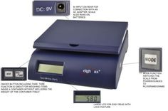 Weighmax 2822-50 lbs capacity, Postal Shipping Scale, Battery and AC Adapter Included, Blue by Weighmax. $19.20. WeighMax 50 lbs scale is designed for weighing letters and small to middle size package for both office ,home and warehouse.. Save 23%!