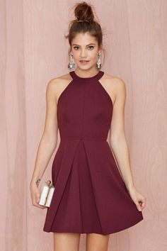 Women Clothing Sexy Short Cocktail Party Dresses 2015 Halter Backless Burgundy A Line Above Knee Length Prom Homecoming Dresses Custom Made Women Formal Wear Women Clothing Source : Sexy Kurze Cocktail-Party Kleider 2015 Halter Semi Dresses, Dresses Short, Hoco Dresses, Pretty Dresses, Beautiful Dresses, Semi Formal Dresses For Teens, Junior Dresses, Dresses 2016, Evening Dresses