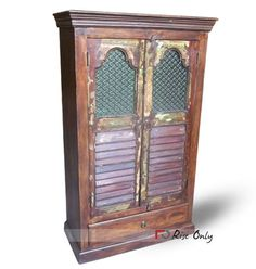 indian old doors are used to make wardrobe. This combination is perfect for art lovers. http://www.riseonly.com/products/antique-reproduction-furniture/almirah-1/wooden-old-door-reproduction-almirah Dimensions:  98x47x162 CBM:   0.78 Colour:   Wooden Brown Material Used :   Old Wood #restoration #artlover #artandcrafts #indianfurniture #teakwood #furniture