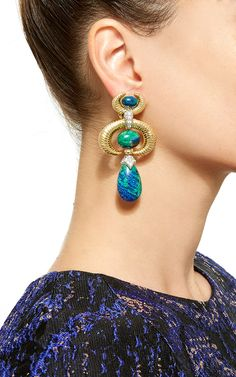 Crescent Earrings - David Webb Resort 2016 - Preorder now on Moda Operandi