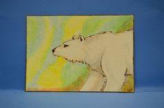 LWick Original ACEO animal nature polar bear