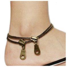 Amazon.com: Punk Rock Style Zipper Shaped Alloy Anklet (Model: Sl010128): Jewelry