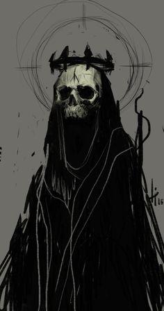 save -- by anti-pizza on DeviantArt<br> Fantasy Kunst, Dark Fantasy Art, Dark Gothic Art, Arte Horror, Horror Art, Image Psychedelic, Satanic Art, Arte Obscura, Skeleton Art