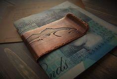 Etched copper fish money clip by Harrison & Bond