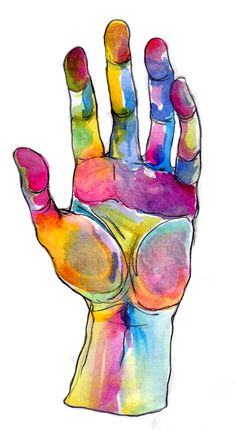watercolor hand.