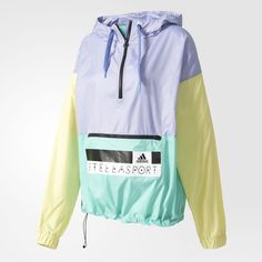 adidas - Chaqueta adidas STELLASPORT Throw-On Adidas Vintage, Teen Girl Fashion, Sport Fashion, Colour Blocking Fashion, Adidas Outfit, Stella Mccartney Adidas, Windbreaker Jacket, Sport Wear, Sweater Jacket