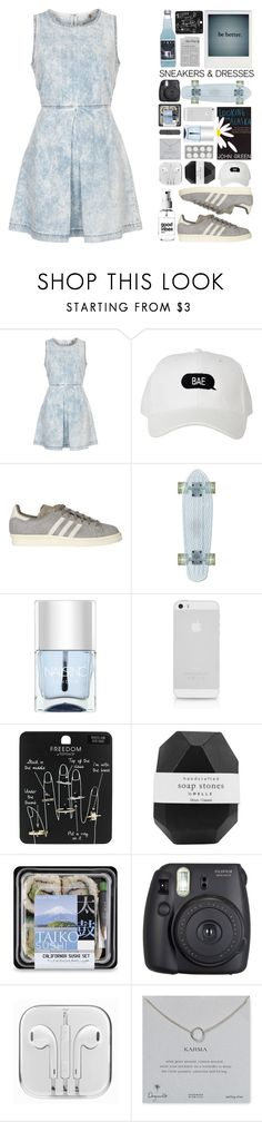 """why you aren't at school? - i'm busy with my polyvore set"" by sonia-norman ❤ liked on Polyvore featuring Topshop, adidas, Nails Inc., Alicia Hannah Naomi, AT&T, Pelle, Fuji and Dogeared"