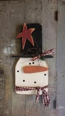 Fat Boy Snowman Head 24in :: Wood Craft items :: WINTER :: Wholesale Country Primitive Gifts/ Kp Home Collection