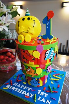 Upside Down Mr Men #Cake Totally Awesome #CakeDecorating! amazing detail -We love and had to share! :)