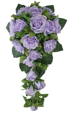Lavender Silk Rose Flower Cascade