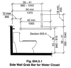 ada grab bar heights at water closet | Dailey Residence in ...