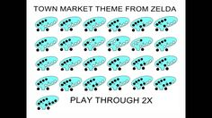 12-hole ocarina Town Market theme The legend of Zelda