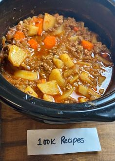 Slow Cooker Poor Man's Stew – - Ground Beef Slow Cooker Stew Recipes, Crockpot Dishes, Crockpot Recipes, Soup Recipes, Cooking Recipes, Slow Cooker Ground Beef, Ground Beef Recipes, Poor Man Stew Recipe, Chicken Parmesan Recipes