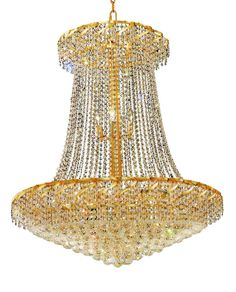 Belenus 22 Light Crystal (Clear) Chandelier in Gold Finish ECA1G36SG EC 2af66a0f1ed0