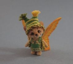Cute miniature fairy bear