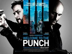 Welcome to the Punch quad movie poster