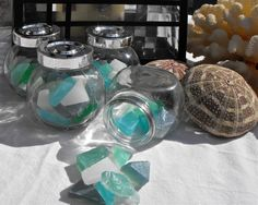 Mermaid Club Sea Glass Soaps with essential oils in by cleanbreak, $5.00