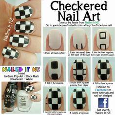 Nailed It NZ: Checkered Nail Art Tutorial + BPS Clothing Review! http://www.naileditnz.com/2014/06/checkered-nail-art-tutorial-bps.html
