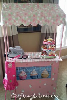 Decorate and use as lemonade stand, cupcake stand or party stand.  Great idea for wedding receptions! Plans are available for purchase at etsy.com/listing/223140867/lemonade-stand-or-cupcake-stand