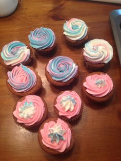 Multi color frosting cupcakes. Cotton candyish? By Jaxi