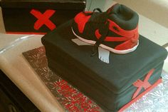 Check out this birthday cake! Air Jordan 1 (Banned)