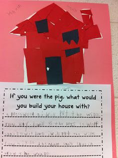Wesley Summer Three Little Pigs Design and Write; Tales of a Title One Teacher.: The Three Little Pigs 3 Little Pigs Activities, Kindergarten Activities, Writing Activities, Enrichment Activities, Preschool Literacy, Traditional Tales, Traditional Stories, Traditional Literature, 1st Grade Writing