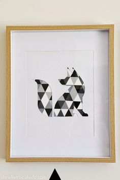 DIY Geometric Animal Wall Art | The Whimsical Wife // Cook . Create . Decorate