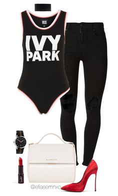 """Ivy Park"" by efiaeemnxo ❤ liked on Polyvore featuring (+) PEOPLE, Topshop, Givenchy, Casadei and Gucci"