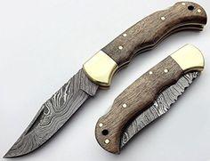 Walnut Wood 6.5'' 100% Handmade Damascus Steel Folding Pocket Knife 100% Prime Quality Best Buy http://www.amazon.com/dp/B017LQYA8S/ref=cm_sw_r_pi_dp_prYZwb1B3HB2M