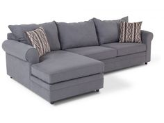 Venus Sectional Sofa With Classic Roll Arm