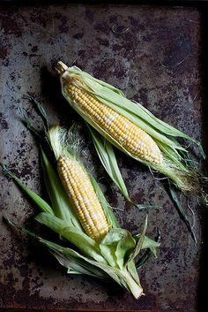 Corn, food photography, styling Corn Vegetable, Vegetable Salad, Lamb Kebabs, Grilled Corn Salad, Vegetables Photography, Dark Food Photography, Lamb Burgers, Corn On Cob, Corn Salads