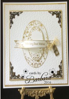 Phills' Crafty Place: Cream and Gold Embossed Card - Featuring the New T...