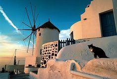 This undated picture shows sunset at the island of Santorini. Voted the world´s best island by Travel + Leisure magazine in 2011