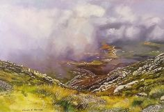 """  View from the mountain pass "" 400 x 600mm( 16 x 24 inches) oils & brush on board - unframed"