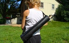 Check out how to make a homemade Quiver (arrow holder) also easy instructions on how to make a Bow out of PVC pipe that REALLY shoots....~Life Sprinkled With Glitter