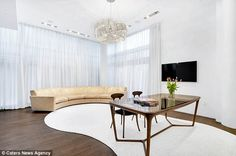 Moving on: The model's luxurious pad is thought to have been her home since 2010...