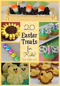 Easter Treats for Kids! Cupcakes, cookies and more sweet treats for Spring   ChaosIsBliss.com
