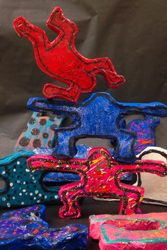 Keith Haring sculptures